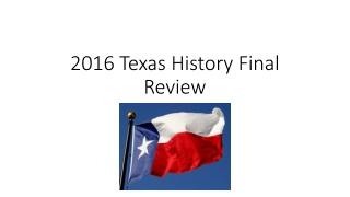 Key Texas Revolution People