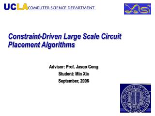 Constraint-Driven Large Scale Circuit Placement Algorithms