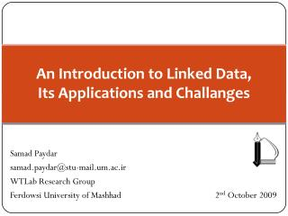 An Introduction to Linked Data, Its Applications and Challanges