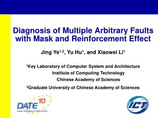 Diagnosis of Multiple Arbitrary Faults with Mask and Reinforcement Effect