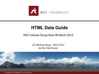 HTML Data Guide