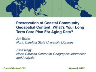 Coastal Geotools '09