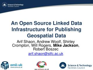 An Open Source Linked Data Infrastructure for Publishing Geospatial Data