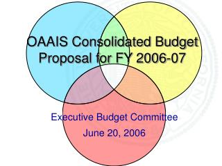 OAAIS Consolidated Budget Proposal for FY 2006-07