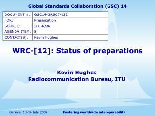 WRC-[12]: Status of preparations