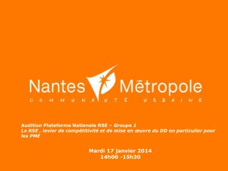 Audition Plateforme Nationale RSE –  Groupe 1