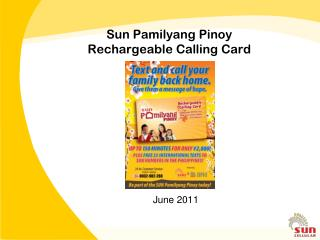 Sun Pamilyang Pinoy Rechargeable Calling Card