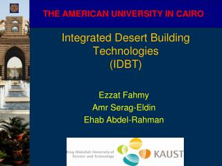 Integrated Desert Building Technologies  (IDBT)