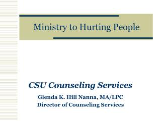 Ministry to Hurting People