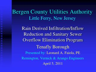 Bergen County Utilities Authority Little Ferry, New Jersey