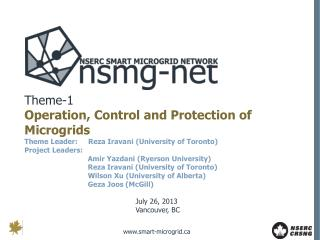 Theme-1 Operation, Control and Protection of Microgrids