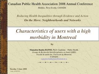 Characteristics of users with a high morbidity in Montreal