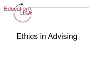 Ethics in Advising