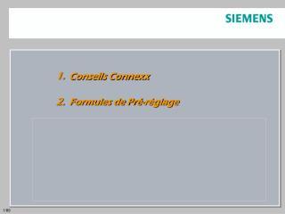 Conseils Connexx  Formules de Pr�-r�glage  R�glage de la Compression