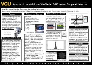 Analysis of the stability of the Varian OBI  system flat panel detector