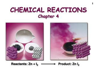CHEMICAL REACTIONS Chapter 4