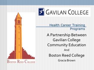 Health Career Training  Programs
