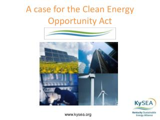 A case for the Clean Energy Opportunity Act