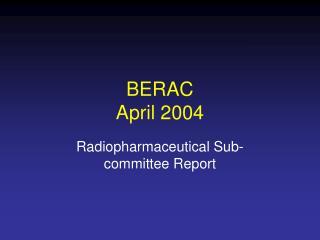 BERAC April 2004