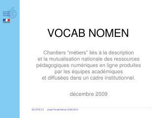 VOCAB NOMEN