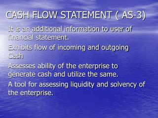CASH FLOW STATEMENT ( AS-3)
