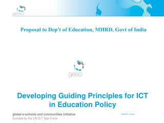 Developing Guiding Principles for ICT in Education Policy