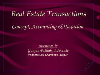presentation  by Gunjan Pathak, Advocate Vedanta Law Chambers, Jaipur