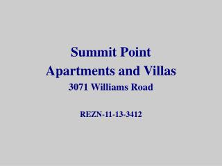 Summit Point Apartments and Villas 3071 Williams Road REZN-11-13-3412