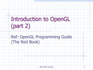 Introduction to OpenGL (part 2)