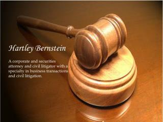 Hartley Bernstein - The Practice Areas of Law