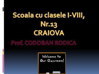 Prof. CODOBAN RODICA