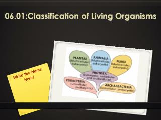 06.01:Classification of Living Organisms