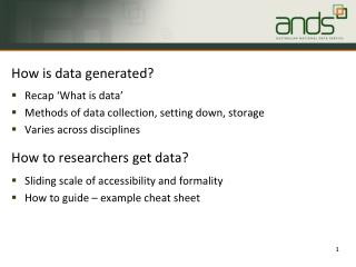 How is data generated?