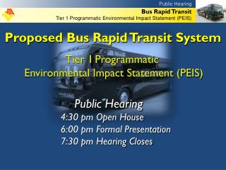 Proposed Bus Rapid Transit System