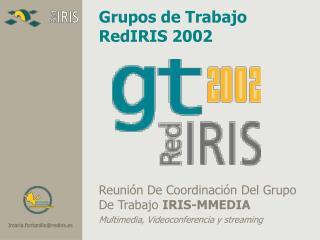 Grupos de Trabajo RedIRIS 200 2