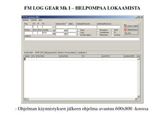 - Ohjelman käynnistyksen jälkeen ohjelma avautuu 600x800 -koossa