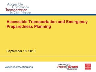 Accessible Transportation and Emergency Preparedness Planning
