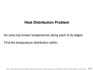 Heat Distribution Problem An area has known temperatures along each of its edges.