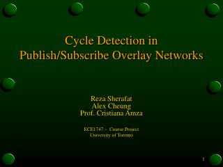 Cycle Detection in Publish/Subscribe Overlay Networks