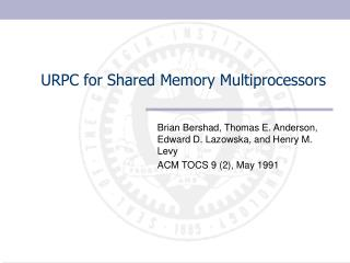 URPC for Shared Memory Multiprocessors