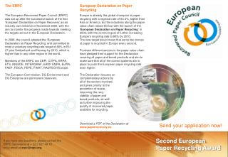 Second European  Paper Recycling Award