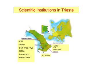 ICTP TWAS + Dept. Theo. Phys. SISSA Immaginario Marina, Parco