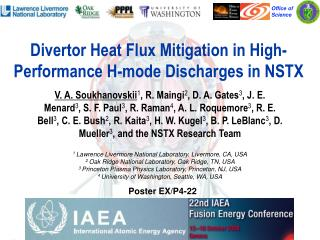 Divertor Heat Flux Mitigation in High-Performance H-mode Discharges in NSTX