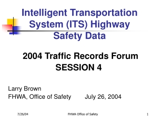 A Future Highway Transportation System