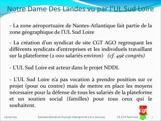 Notre Dame Des Landes vu par l�UL Sud Loire