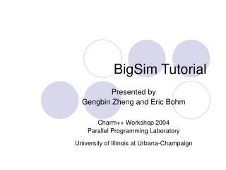 BigSim Tutorial