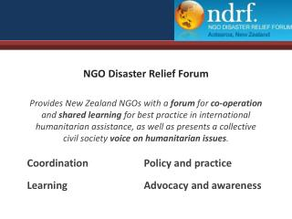 NGO Disaster Relief Forum