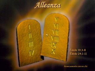 Alleanza Esodo  19,3-8