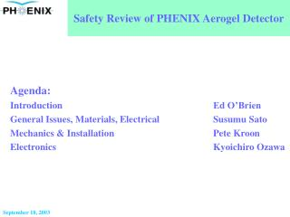 Safety Review of PHENIX Aerogel Detector