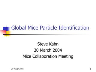 Global Mice Particle Identification